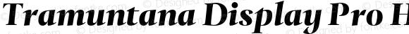Tramuntana Display Pro Heavy Italic