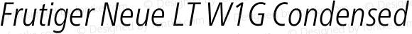 Frutiger Neue LT W1G
