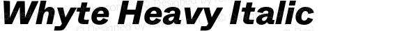 Whyte Heavy Italic