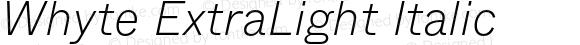 Whyte ExtraLight Italic
