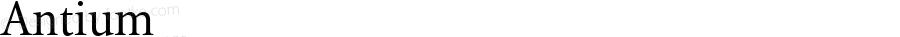 Antium ☞ Version 2.001;com.myfonts.eurotypo.antium.regular.wfkit2.3sKQ