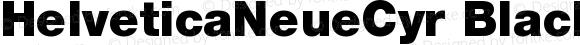 HelveticaNeueCyr Black