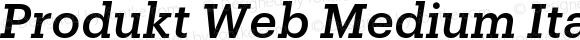 Produkt Web Medium Italic