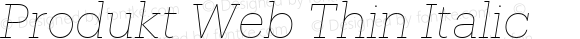 Produkt Web Thin Italic