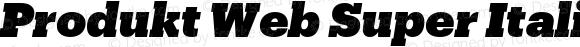 Produkt Web Super Italic