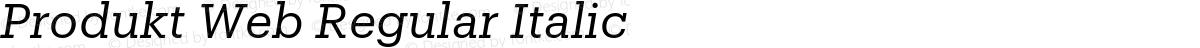 Produkt Web Regular Italic