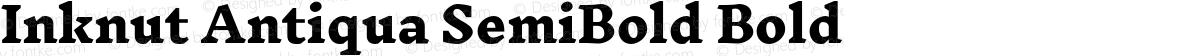 Inknut Antiqua SemiBold Bold
