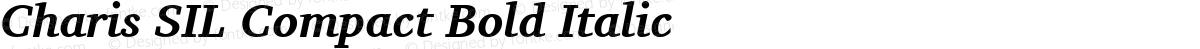 Charis SIL Compact Bold Italic