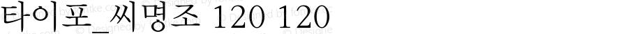타이포_씨명조 120 120 Version 1.0.0