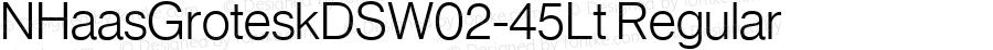 NHaasGroteskDSW02-45Lt Regular Version 1.01
