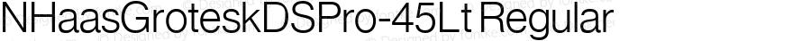 NHaasGroteskDSPro-45Lt Regular Version 1.01