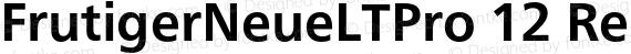 FrutigerNeueLTPro 12 Regular preview image