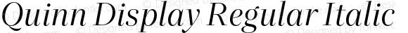 Quinn Display Regular Italic