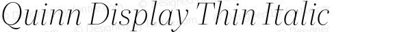 Quinn Display Thin Italic