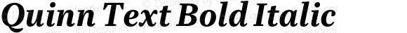 Quinn Text Bold Italic