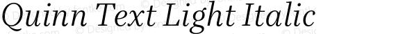 Quinn Text Light Italic