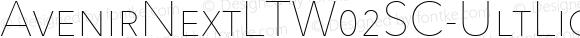 AvenirNextLTW02SC-UltLight Regular Version 2.10