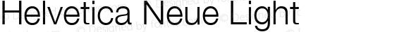Helvetica Neue Light