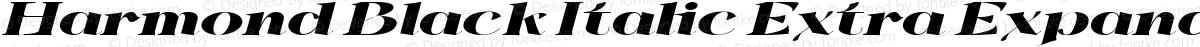 Harmond Black Italic Extra Expanded