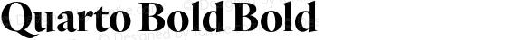 Quarto Bold Bold