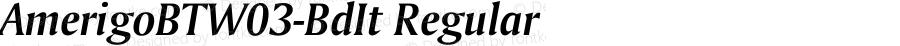 AmerigoBTW03-BdIt Regular Version 1.00