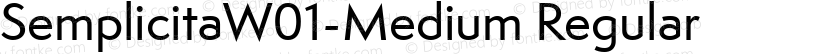 SemplicitaW01-Medium Regular Preview Image