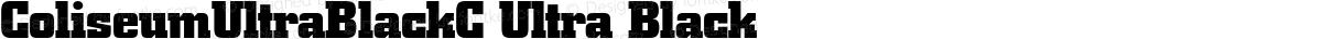 ColiseumUltraBlackC Ultra Black