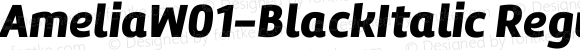 AmeliaW01-BlackItalic Regular Version 1.10