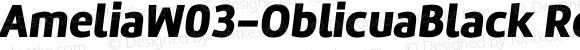 AmeliaW03-OblicuaBlack Regular Version 1.10