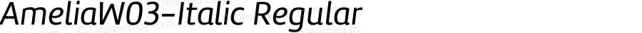 AmeliaW03-Italic Regular Version 1.10
