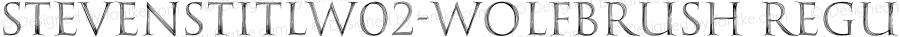 StevensTitlW02-WolfBrush Regular Version 1.00