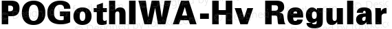 POGothIWA-Hv Regular preview image