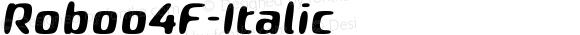 Roboo4F-Italic ☞