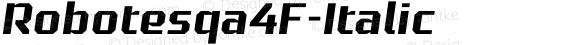 Robotesqa4F-Italic ☞