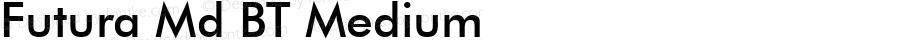 Futura Md BT Medium Version 1.01 emb4-OT