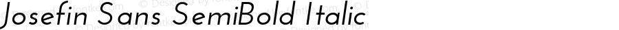 Josefin Sans SemiBold Italic Version 1.0