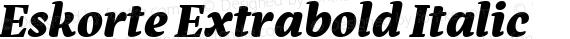 Eskorte Extrabold Italic preview image