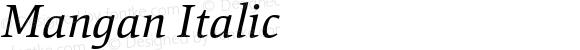 Mangan Italic