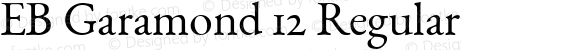EB Garamond 12 Regular