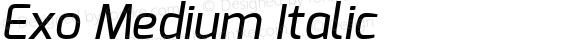 Exo Medium Italic