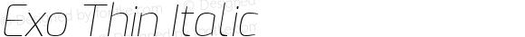 Exo Thin Italic