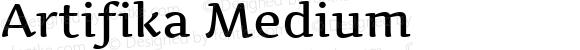 Artifika Medium Version 1.000