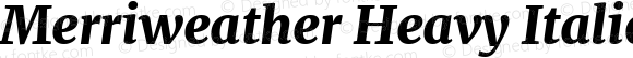 Merriweather Heavy Italic