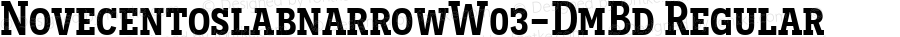 NovecentoslabnarrowW03-DmBd Regular Version 1.10