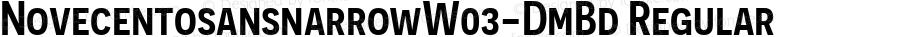 NovecentosansnarrowW03-DmBd Regular Version 3.10
