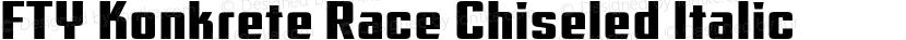 FTY Konkrete Race Chiseled Italic Preview Image