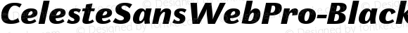 CelesteSansWebPro-BlackItaW01 Regular Version 7.504