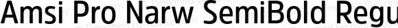 Amsi Pro Narw SemiBold Regular Version 1.40