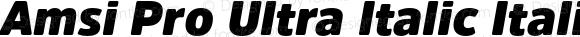 Amsi Pro Ultra Italic Italic Version 1.40