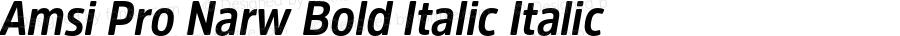 Amsi Pro Narw Bold Italic Italic Version 1.40